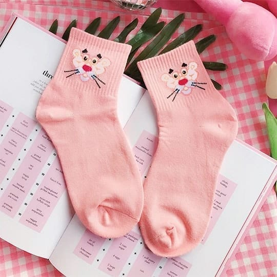 pink panther socks from kumplo