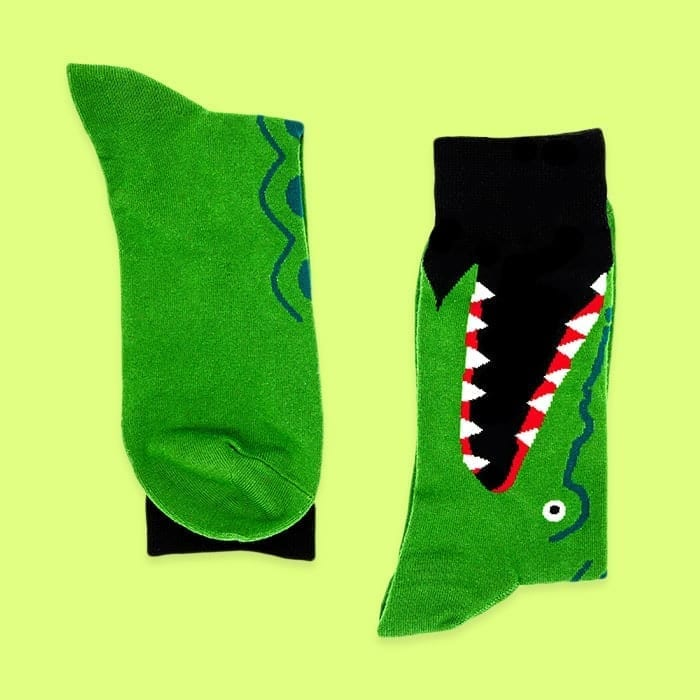 crocodile socks both sides