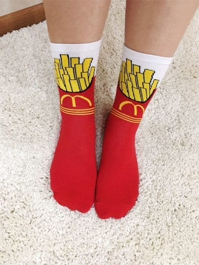 mcdonalds novelty socks