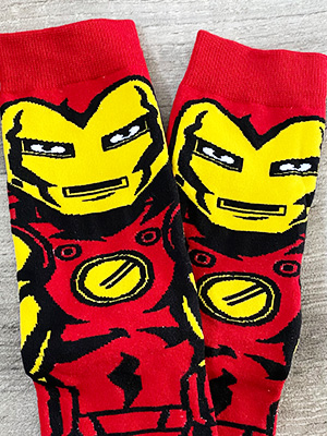 marvel characters socks with iron man