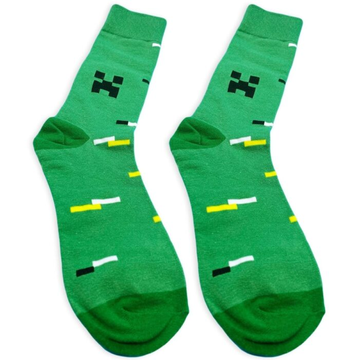 pair of minecraft socks with creeper from kumplo