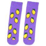 lemon socks in purple color