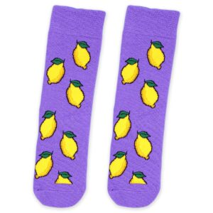 Purple-Lemon-Socks