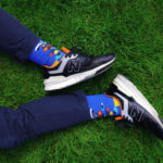 abstract socks colourful