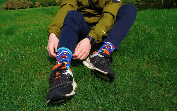 colourful abstract socks