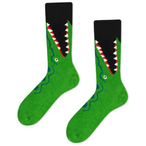 crocodile socks green