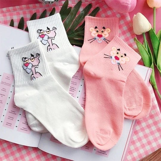 funny socks pink panther