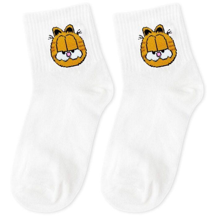 white socks with garfield