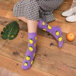 lemon socks purple