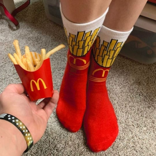 customer photo review of mcdonalds socks from kumplo