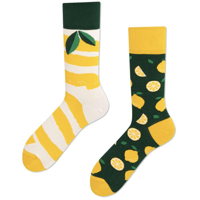 mismatched lemon socks