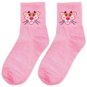 pink panther socks in pink color
