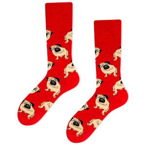 pug socks red