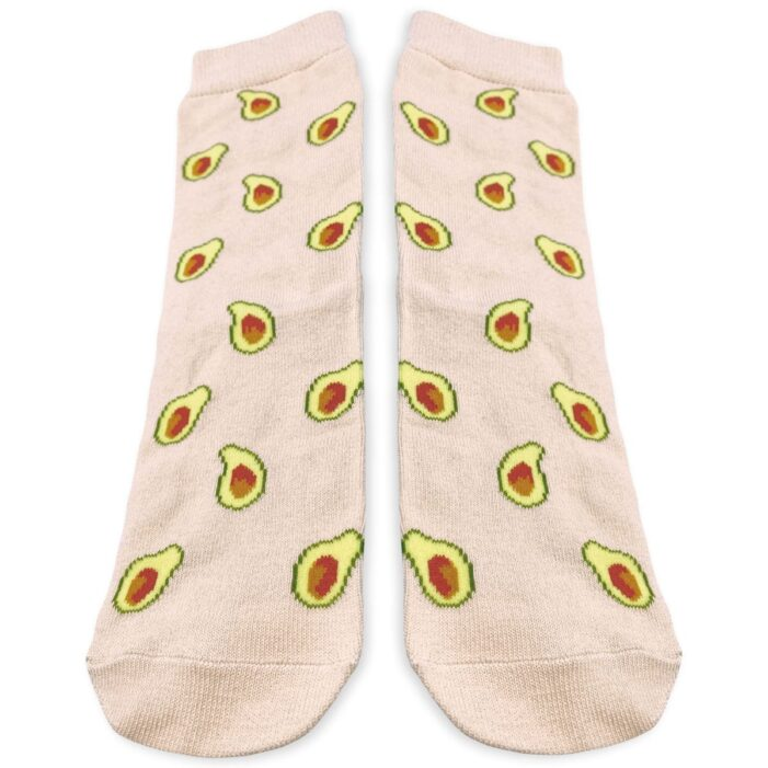 pair of beige socks with avocado from kumplo