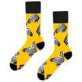 zebra socks yellow black