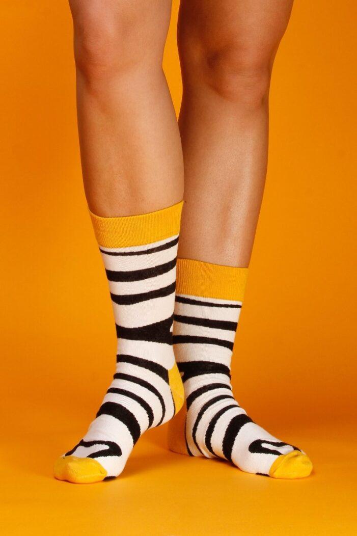 zebra socks yellow kumplo