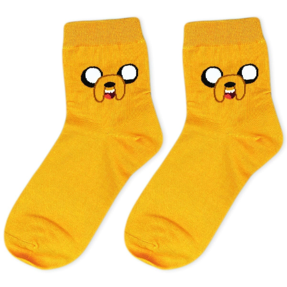 pair of orange socks with jake the dog
