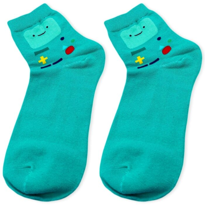 closer look on sea green beemo socks