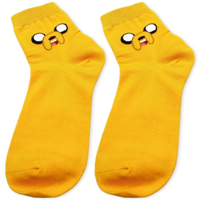 closer look on orange jake the dog socks
