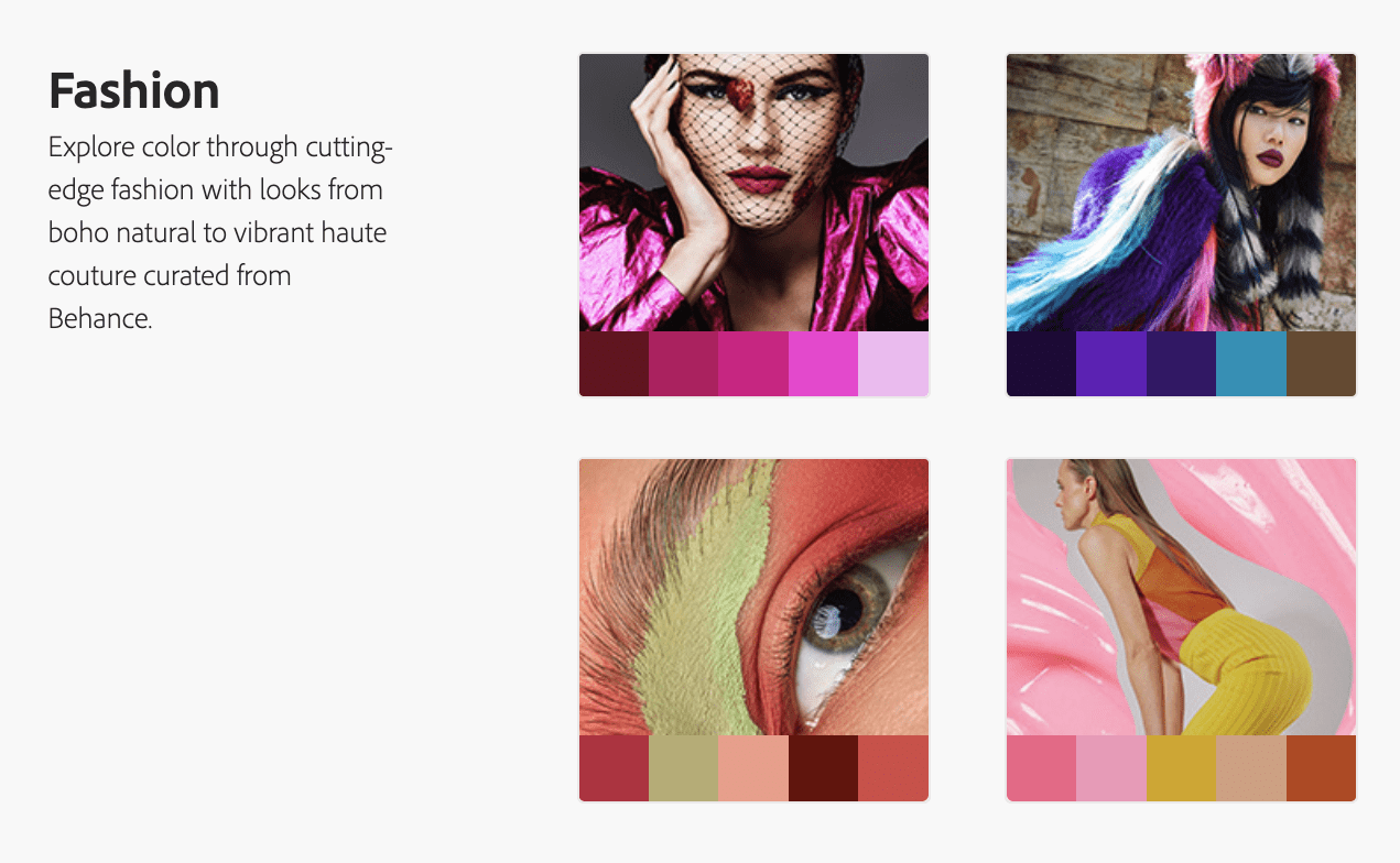 finding fashionable colours
