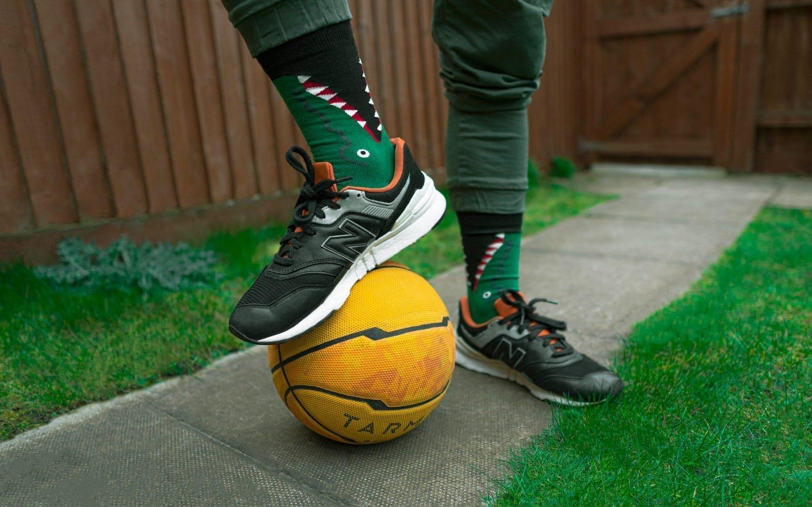 funny socks outfit idea