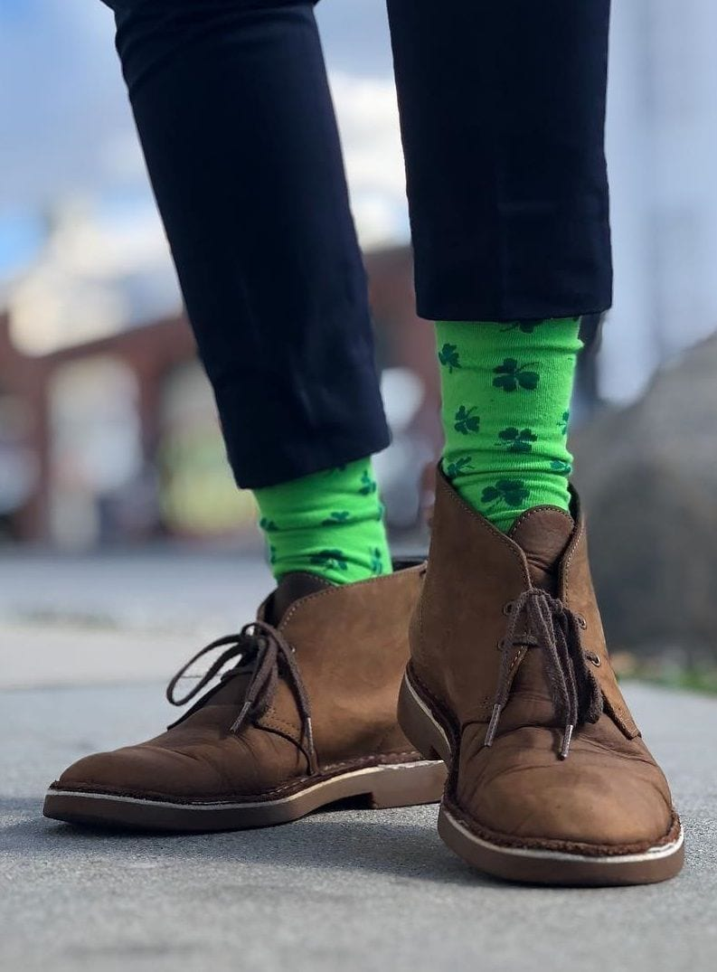 green socks outfit