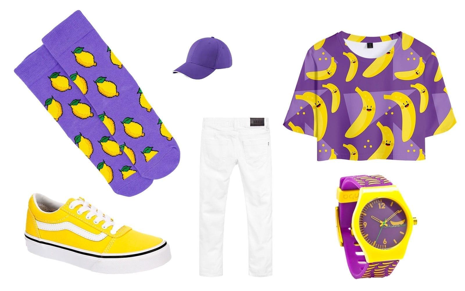 lemon socks outfit idea