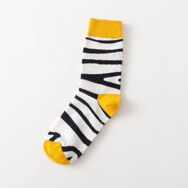 novelty socks with zebra