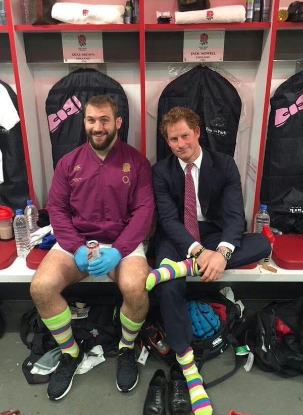 prince harry in funny socks