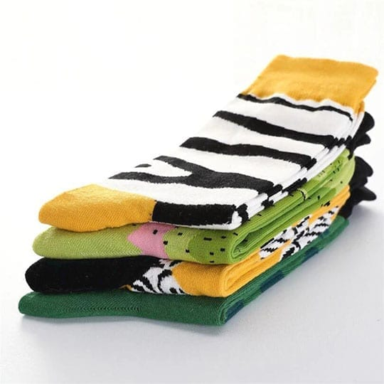 zebra socks animals series