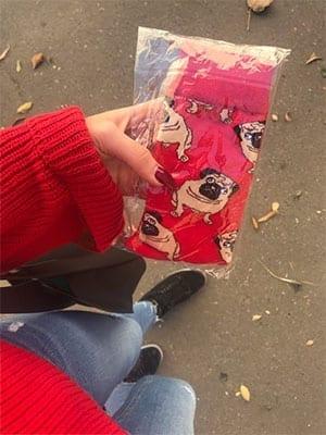 review photo of pug socks from kumplo