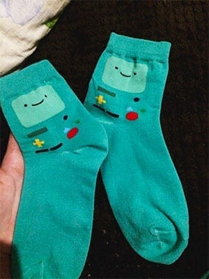 adventure time beemo socks review