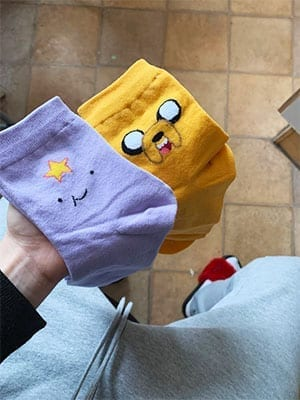 lumpy space princess and jake the dog socks