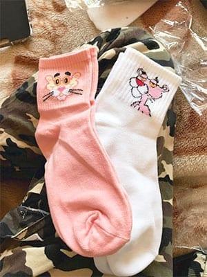 pink panther socks bundle