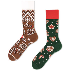 Gingerbread Christmas Socks