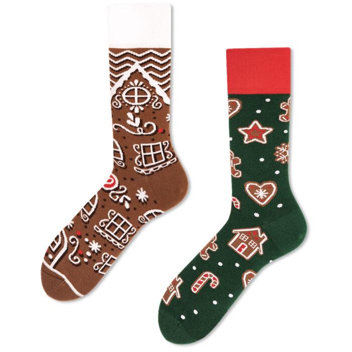 Gingerbread Christmas Socks