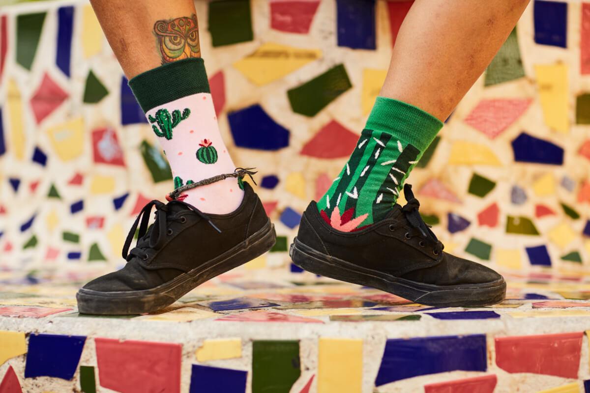 socks with cactus