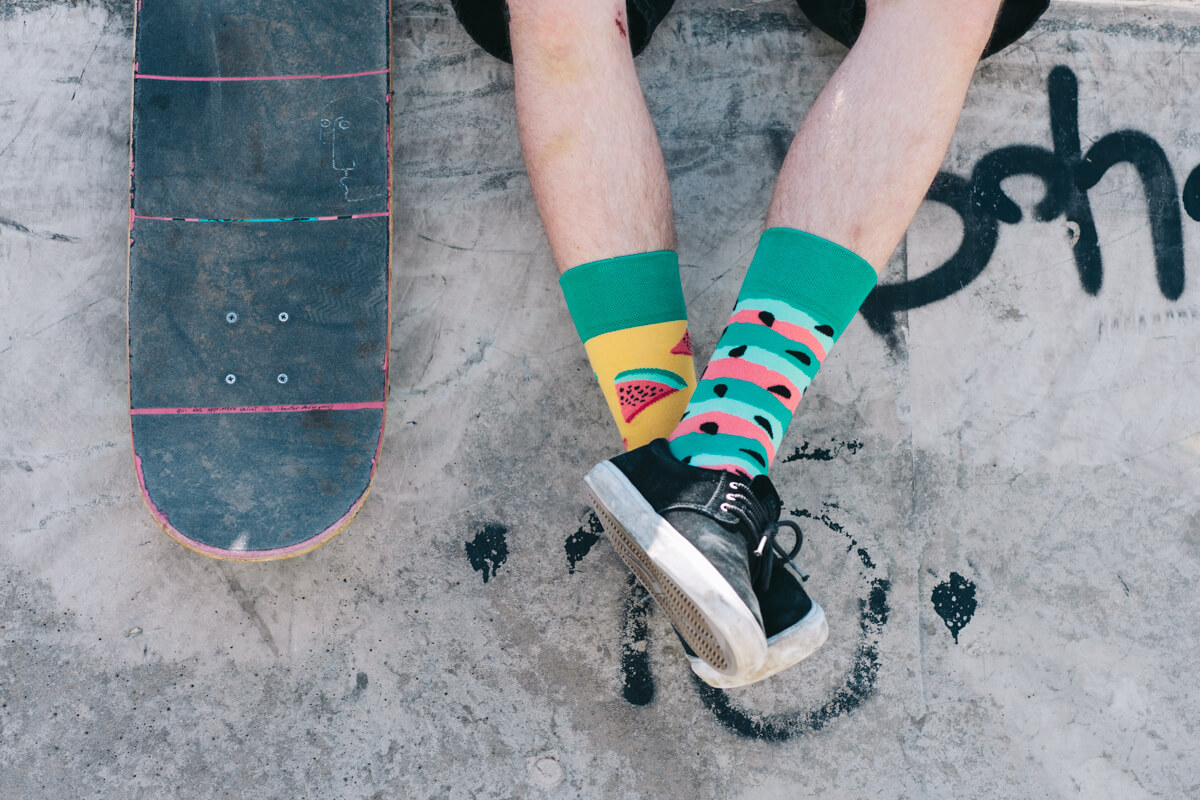 socks with watermelon