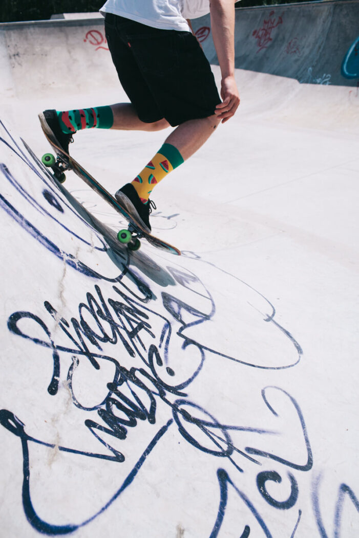watermelon socks skateboard