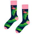 flamingo socks dark blue