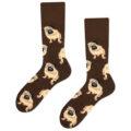 pug socks brown