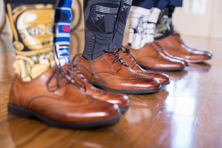 elegant shoes and socks with star wars characters