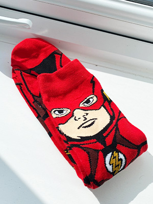 flash marvel comics socks